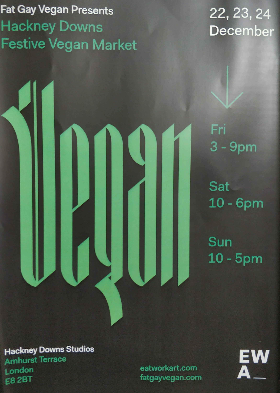 Hackney Downs Festive Vegan Market The World According